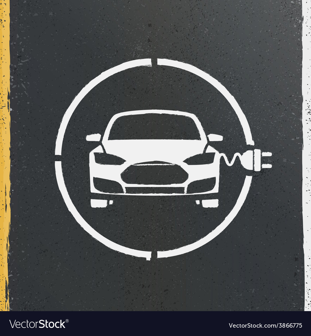 Electric eco car charging station icon vector | Price: 1 Credit (USD $1)