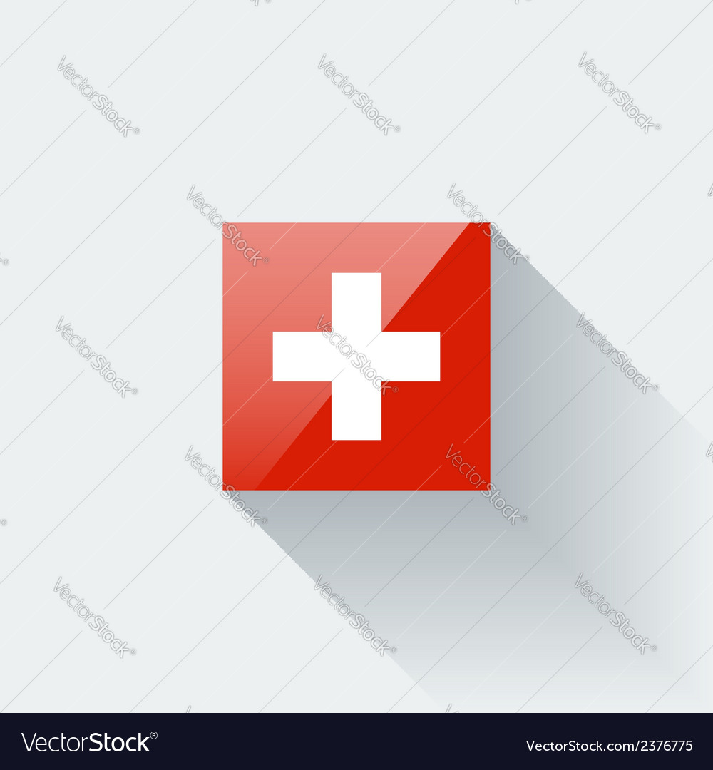 Flag of switzerland vector | Price: 1 Credit (USD $1)