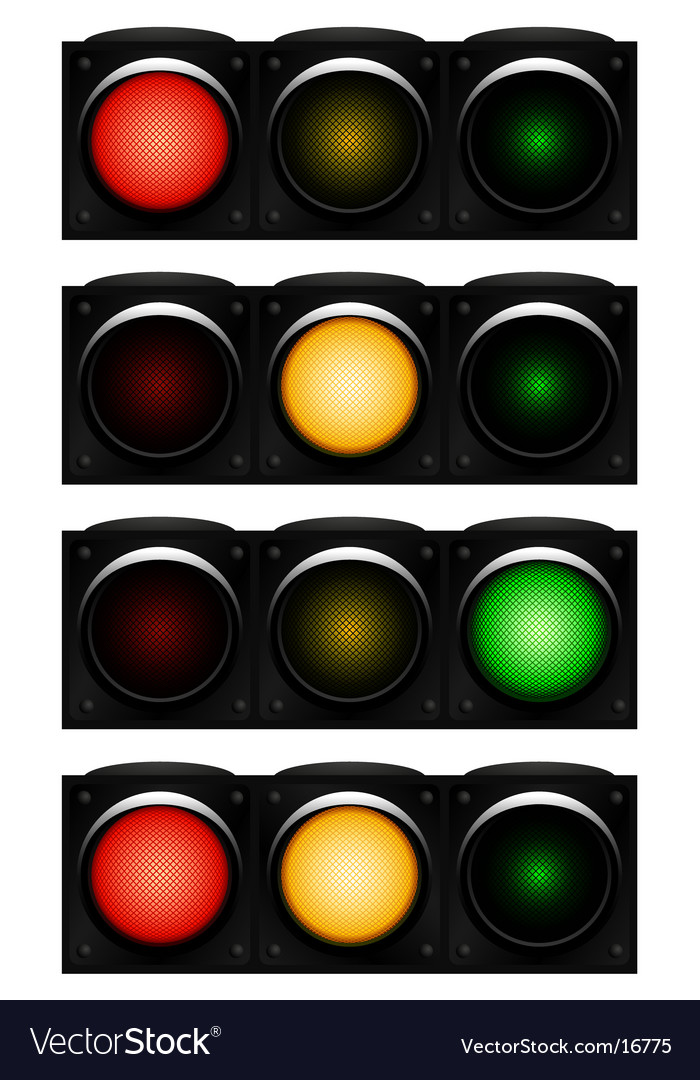 Horizontal traffic-light vector | Price: 1 Credit (USD $1)