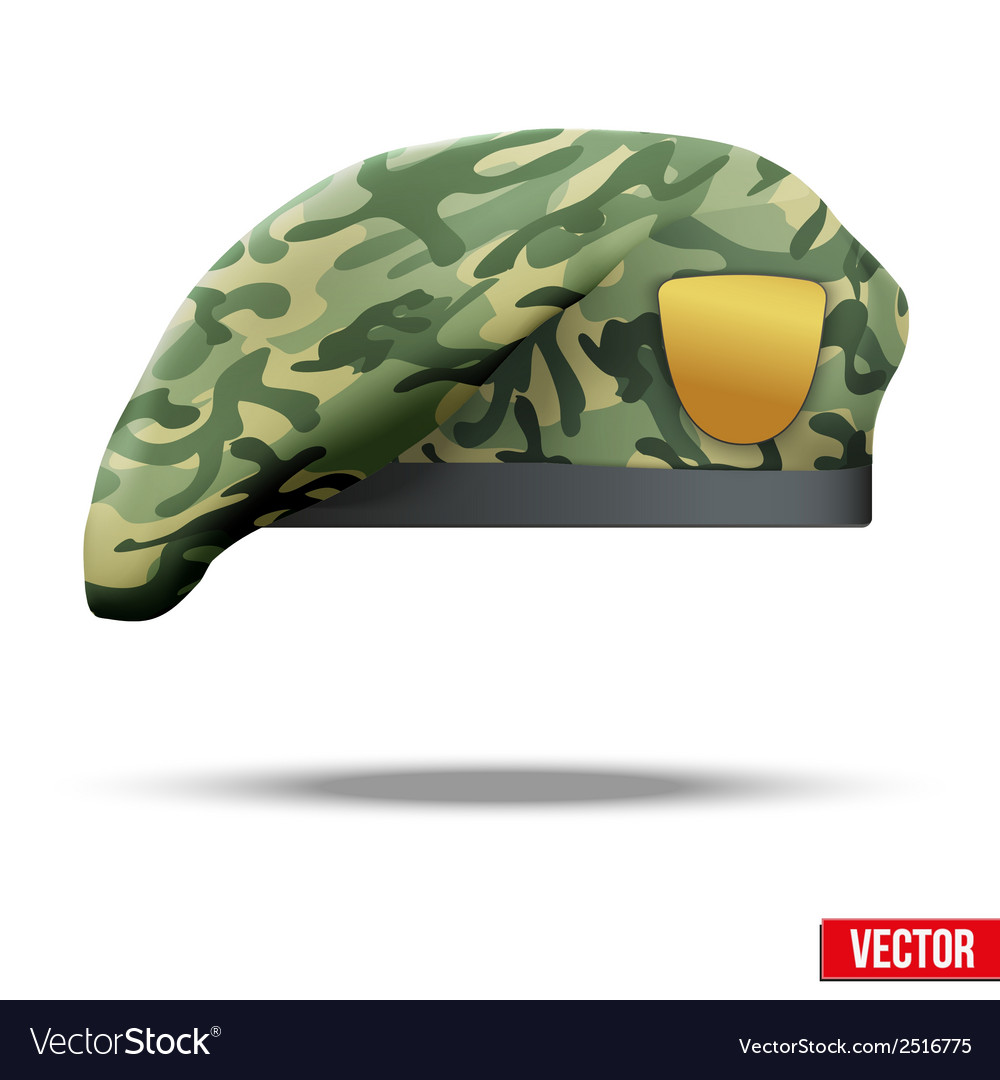 Military camouflage beret special forces vector | Price: 1 Credit (USD $1)