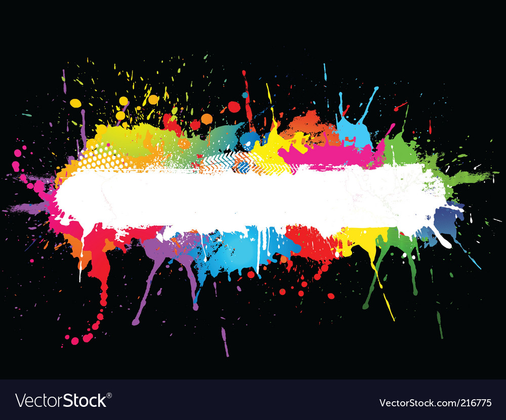 Paint splat vector | Price: 1 Credit (USD $1)