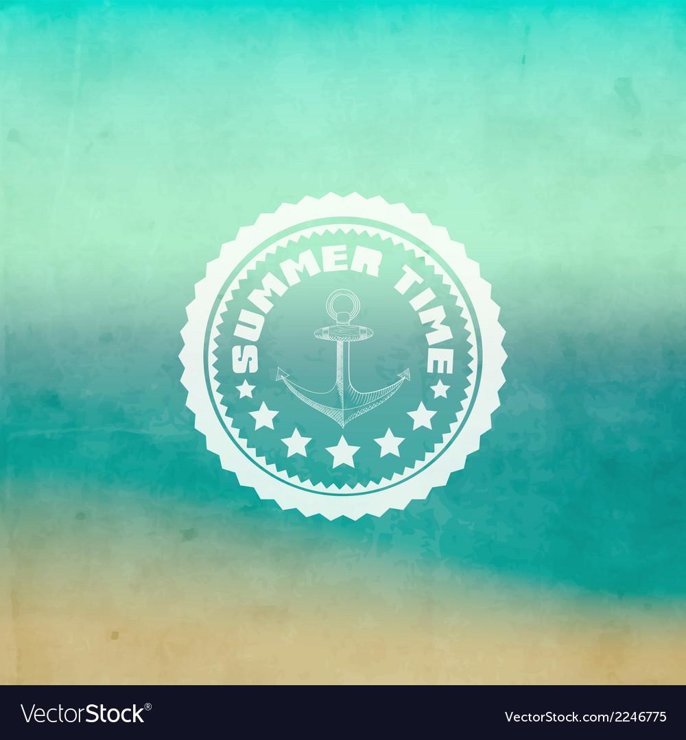 Retro summer background vector | Price: 1 Credit (USD $1)