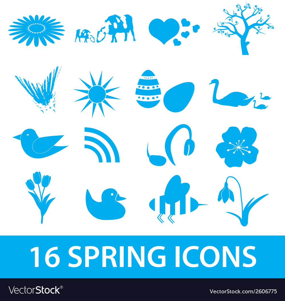 Spring icons set eps10 vector | Price: 1 Credit (USD $1)