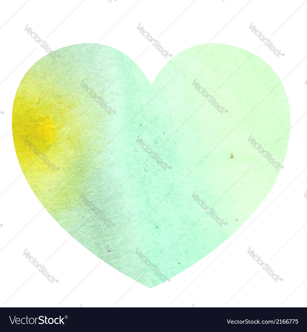 Watercolor heart on white background vector | Price: 1 Credit (USD $1)