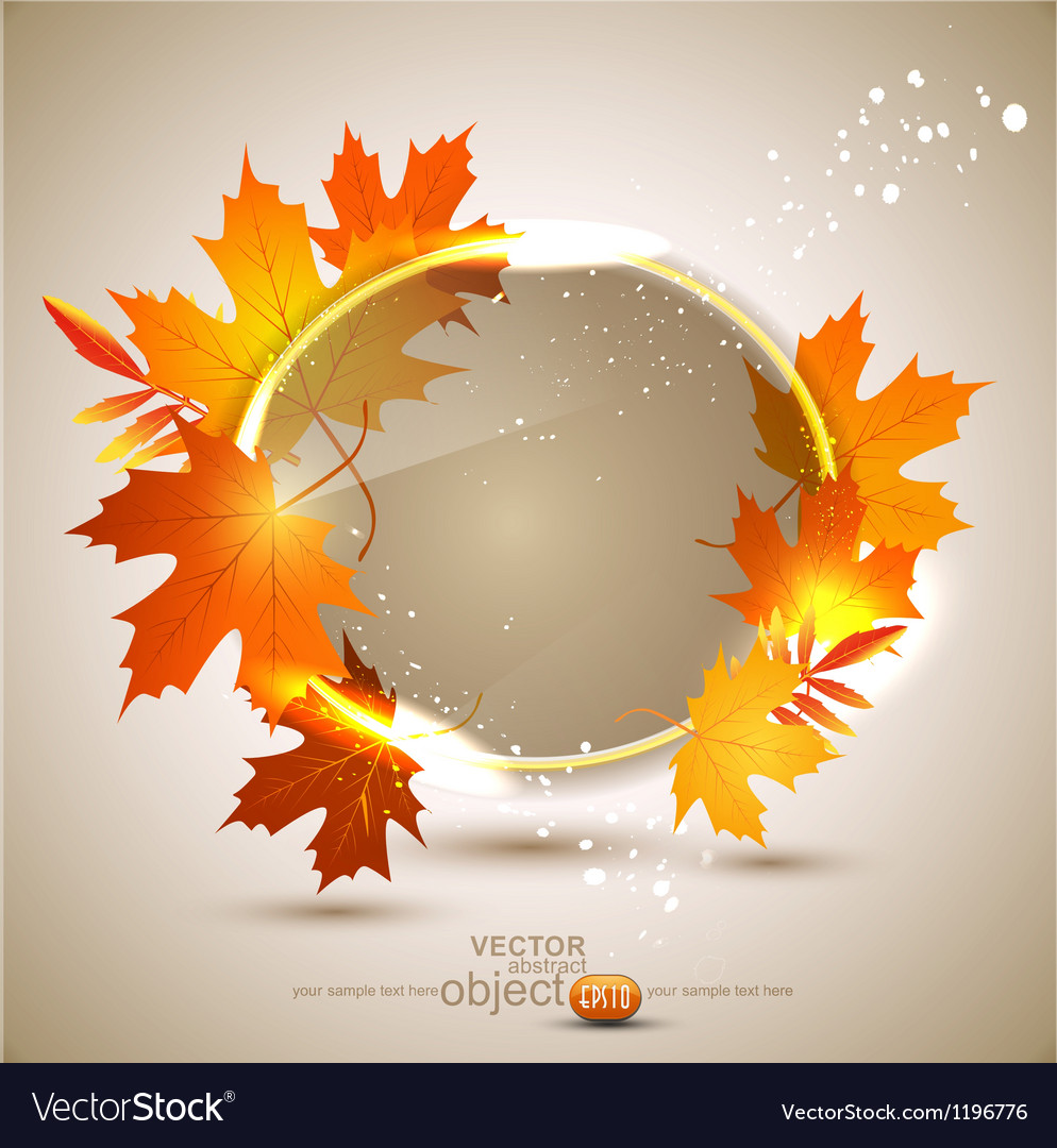 Autumn abstract background vector | Price: 1 Credit (USD $1)