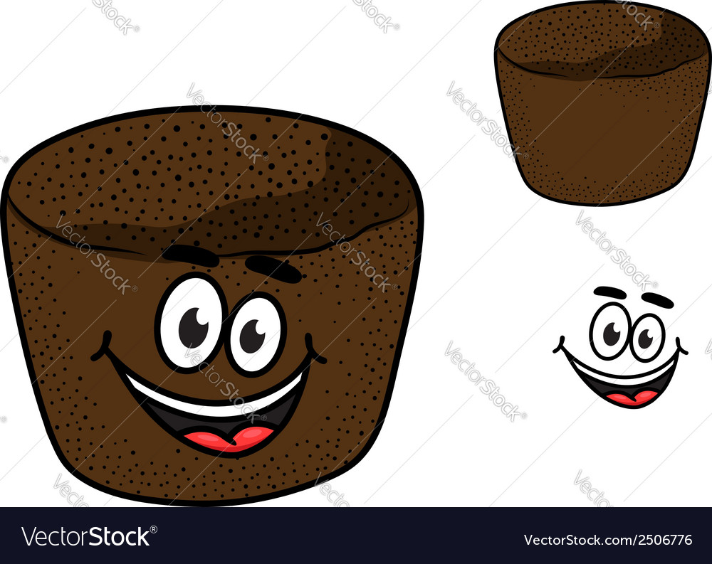 Cartoon rye brown bread vector | Price: 1 Credit (USD $1)