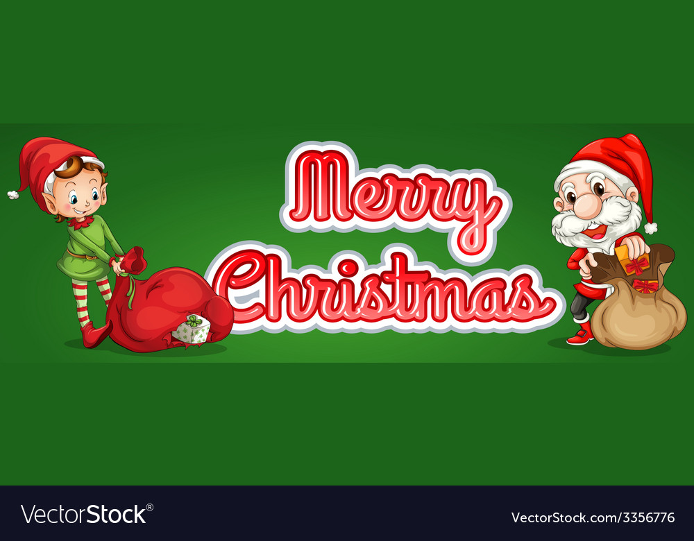 Christmas text vector | Price: 5 Credit (USD $5)