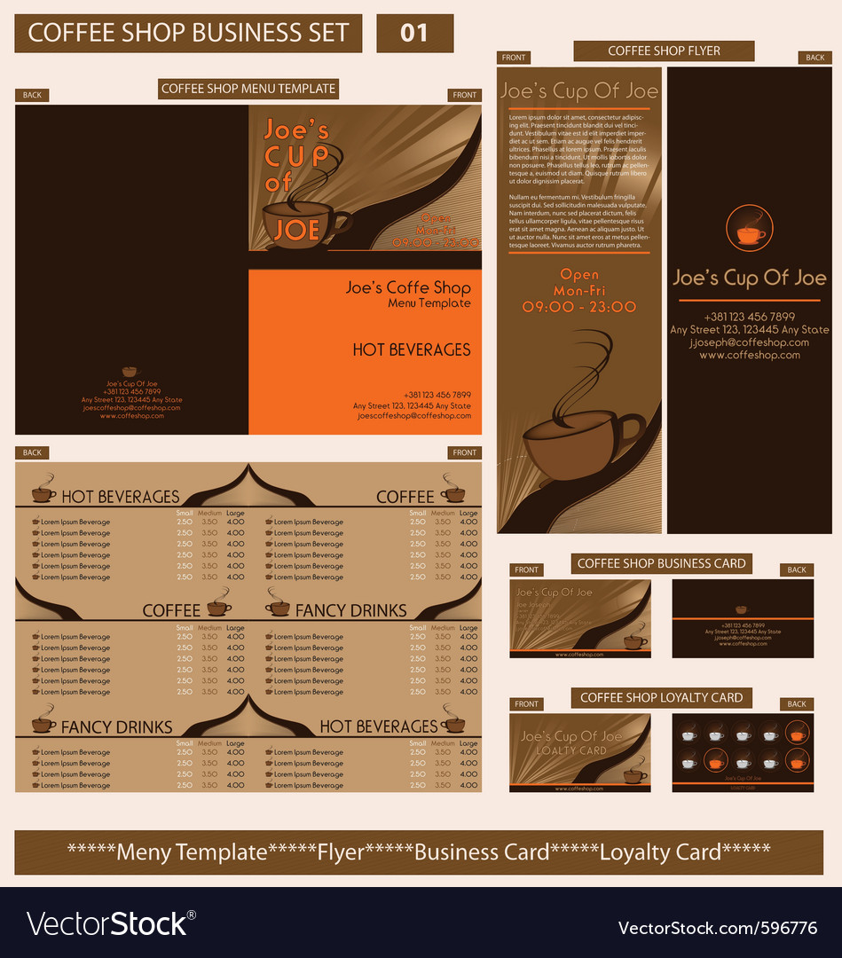 Coffee shop business template vector | Price: 3 Credit (USD $3)