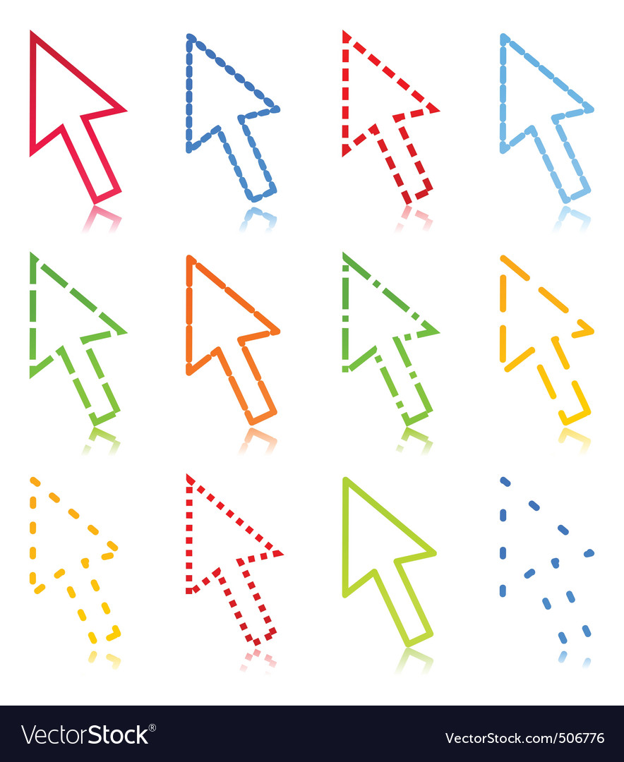 Computer arrow2 vector | Price: 1 Credit (USD $1)