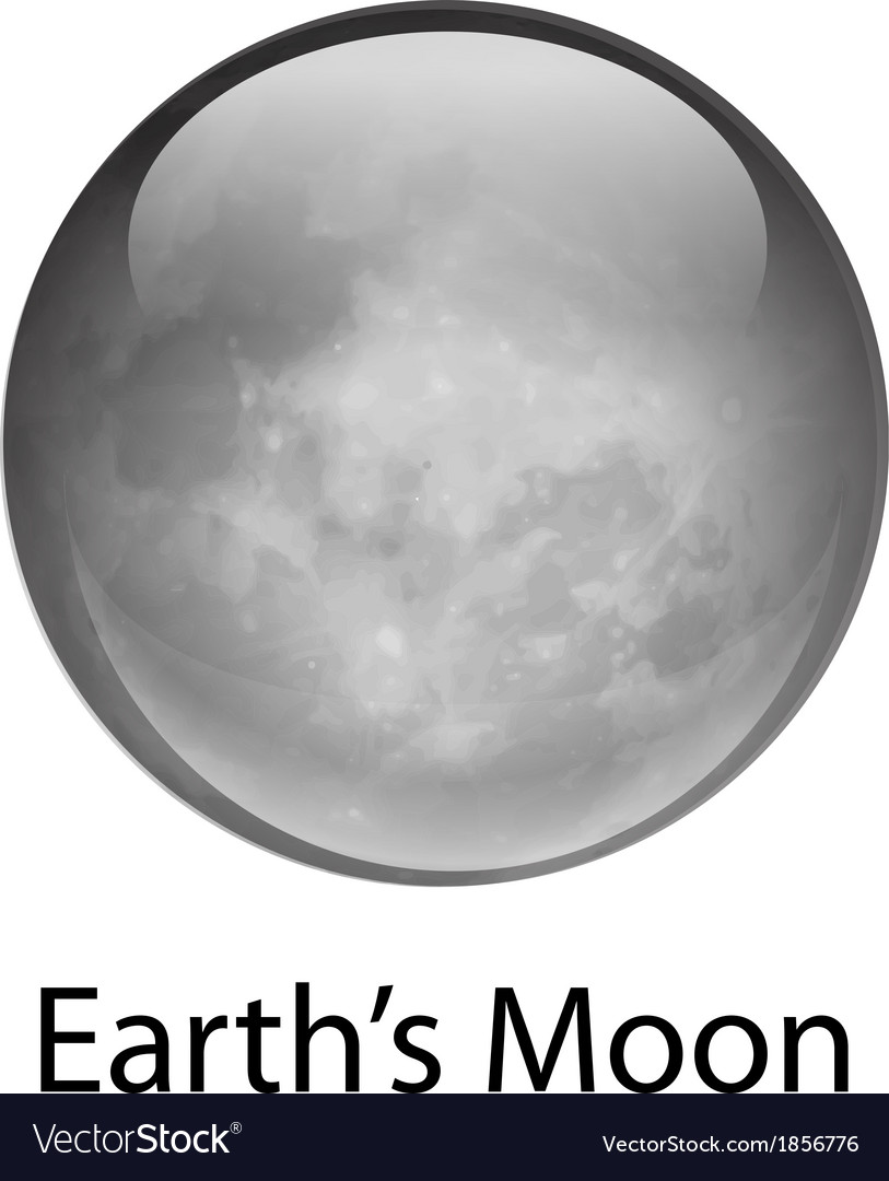 Earth s moon vector | Price: 1 Credit (USD $1)