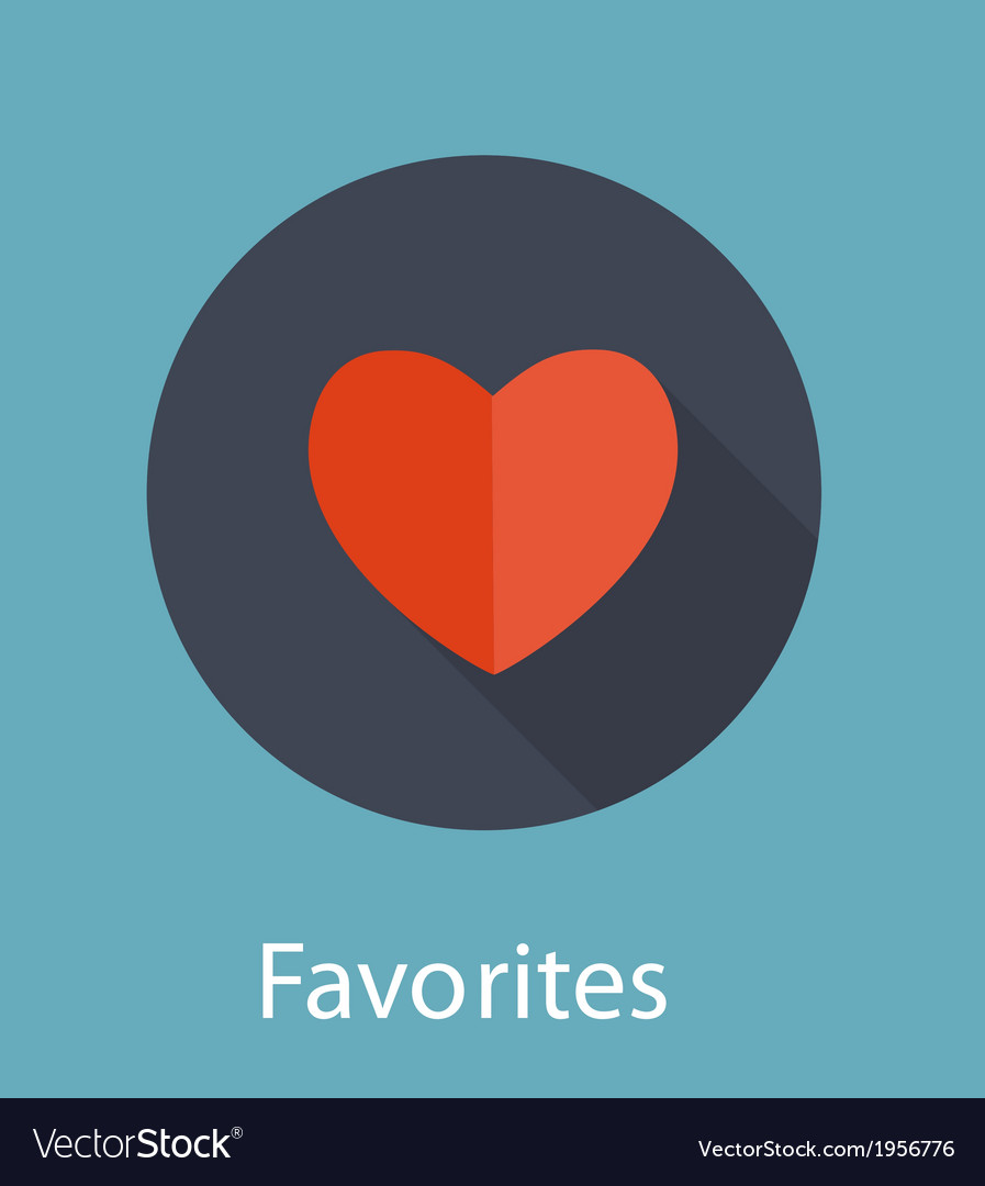 Favorites flat icon concept vector | Price: 1 Credit (USD $1)
