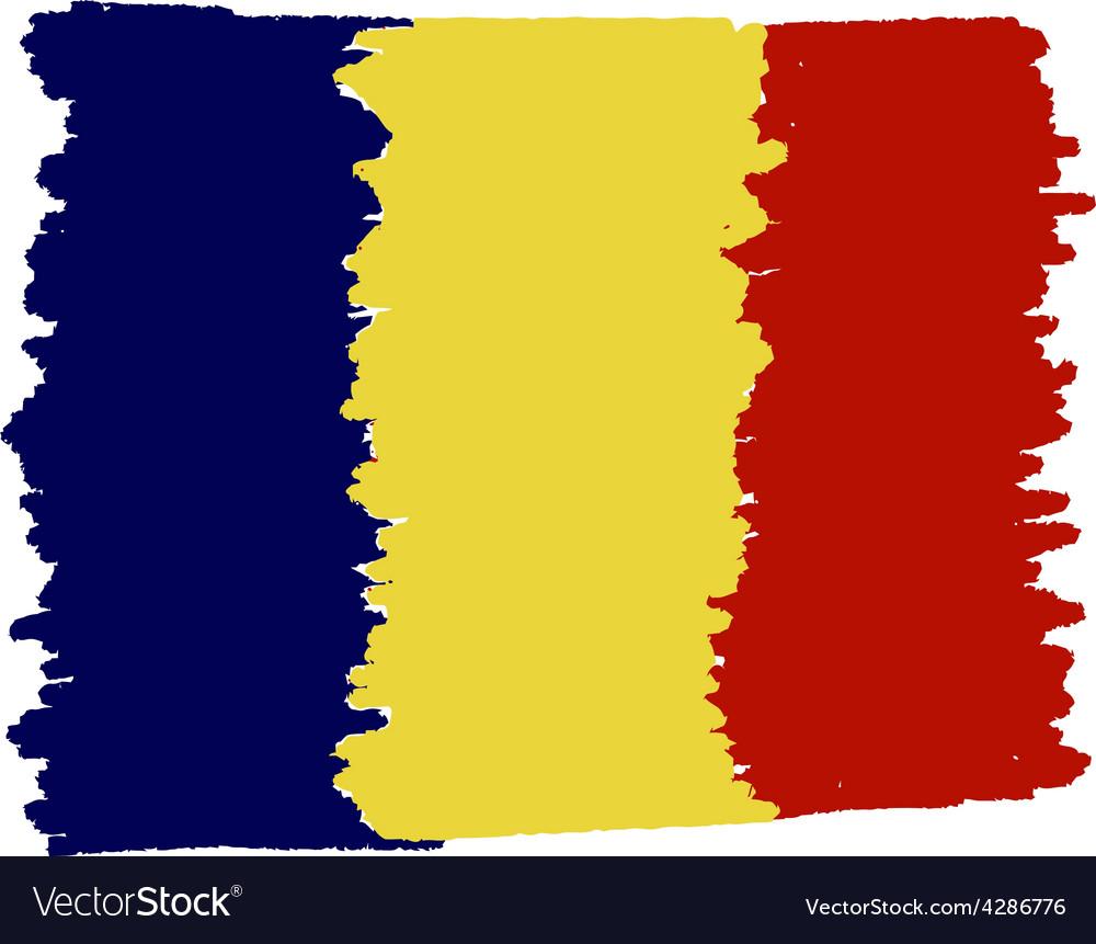 Flag of romania handmade vector | Price: 1 Credit (USD $1)