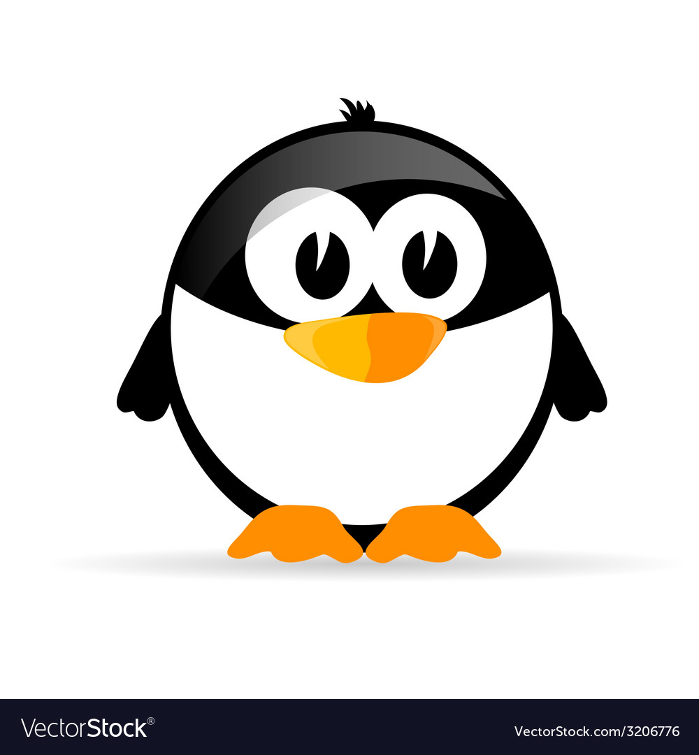 Funny and sweet penguin vector | Price: 1 Credit (USD $1)