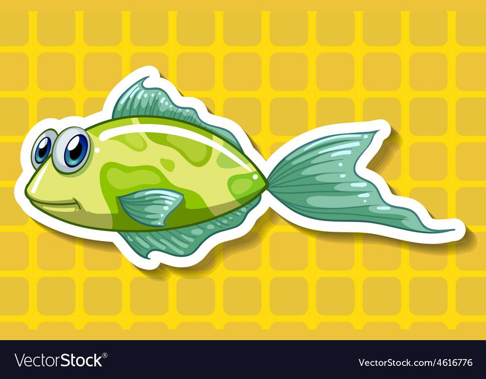 Happy fish vector | Price: 1 Credit (USD $1)