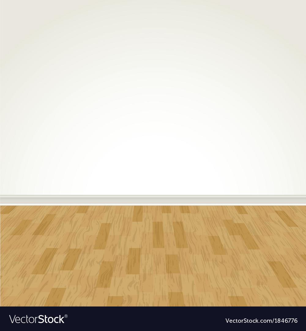 Hardwood floor and blank wall vector | Price: 1 Credit (USD $1)