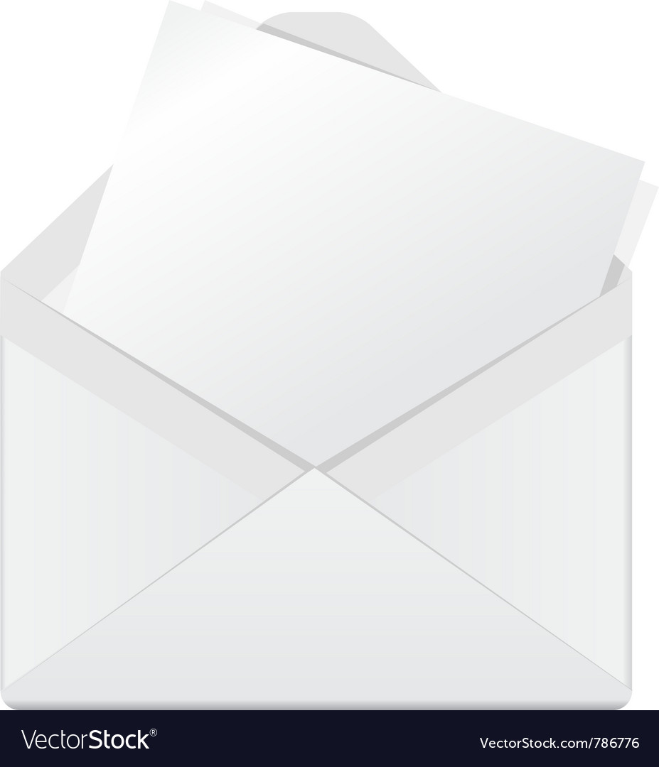 Open envelope vector | Price: 1 Credit (USD $1)