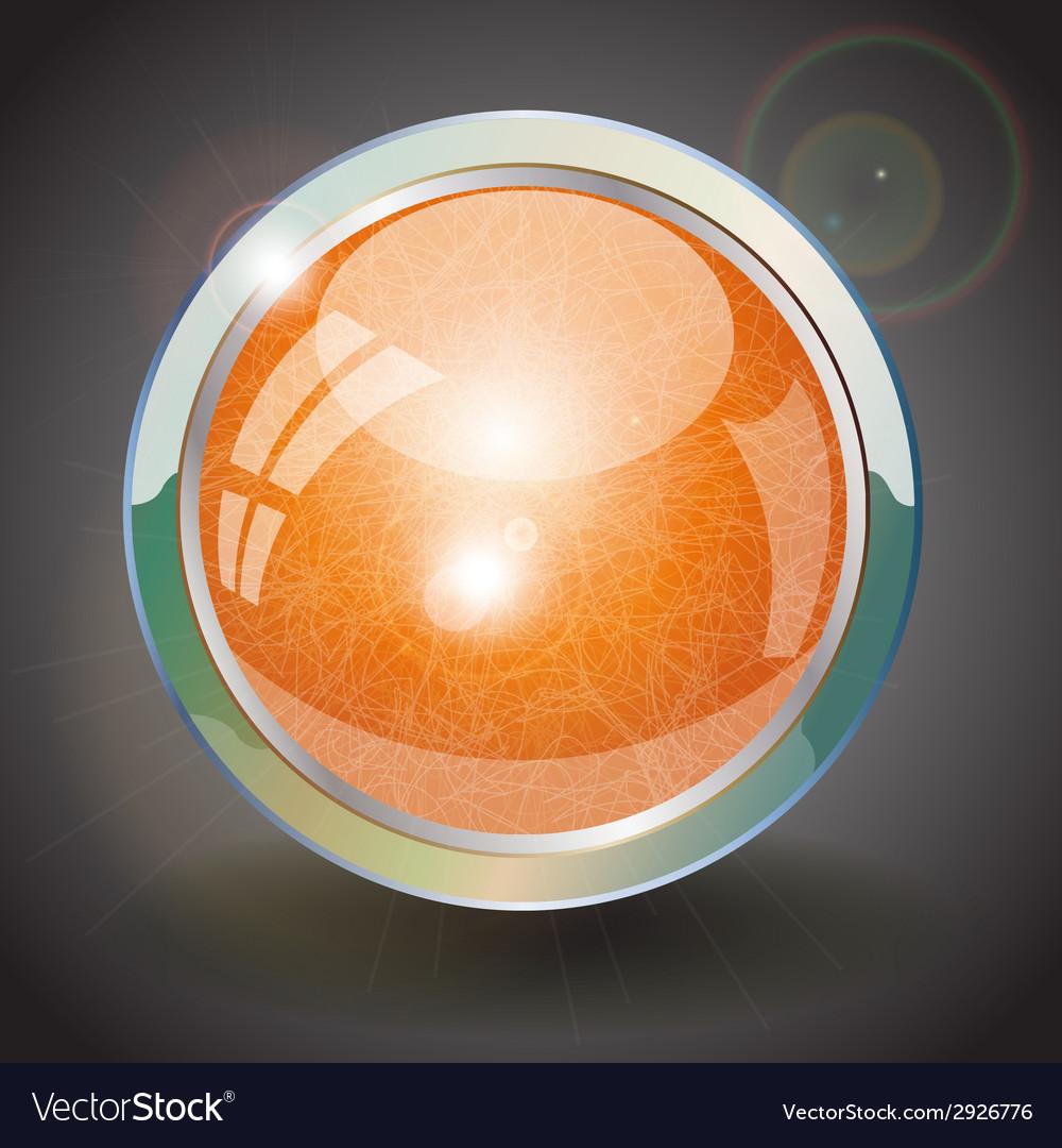 Orange button vector | Price: 1 Credit (USD $1)