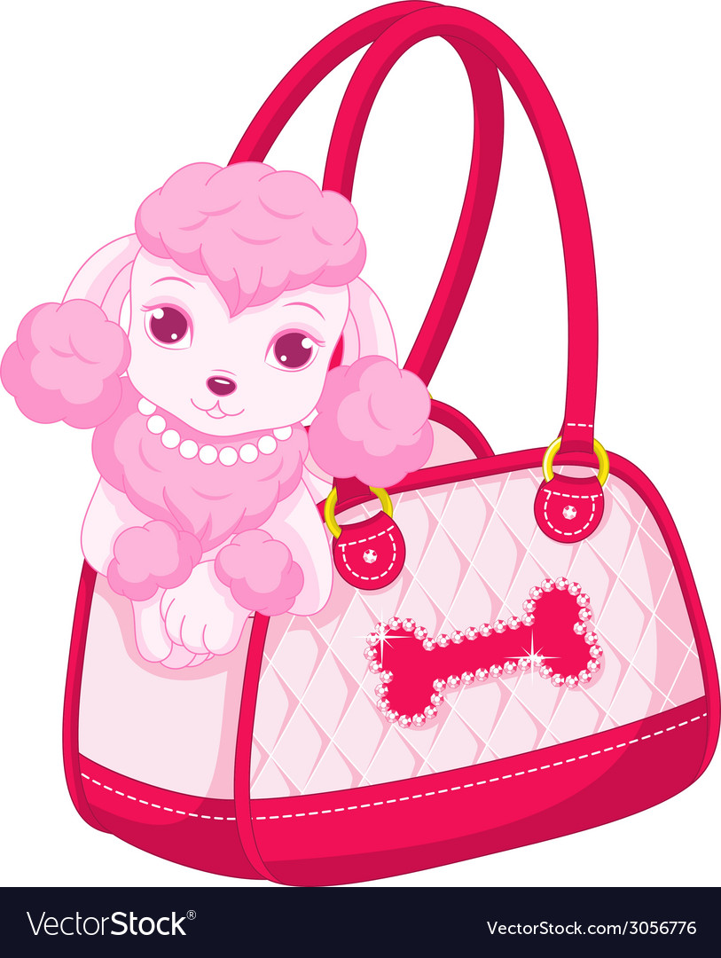 Pink poodle vector | Price: 1 Credit (USD $1)
