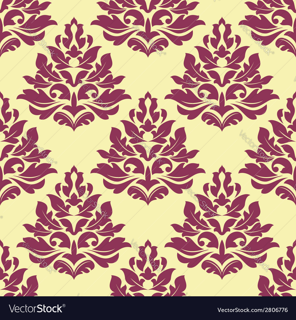 Retro maroon crimson or dark red seamless pattern vector | Price: 1 Credit (USD $1)