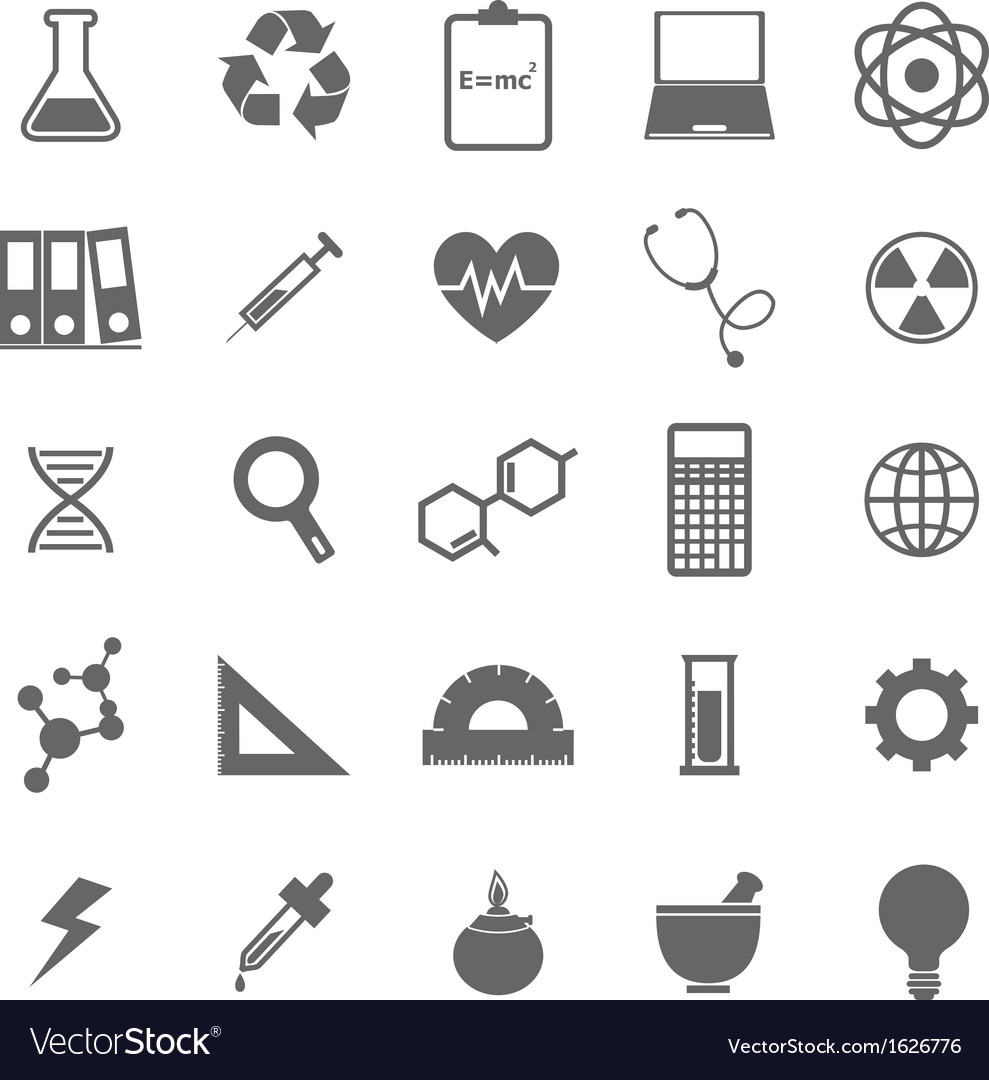 Science icons on white background vector | Price: 1 Credit (USD $1)