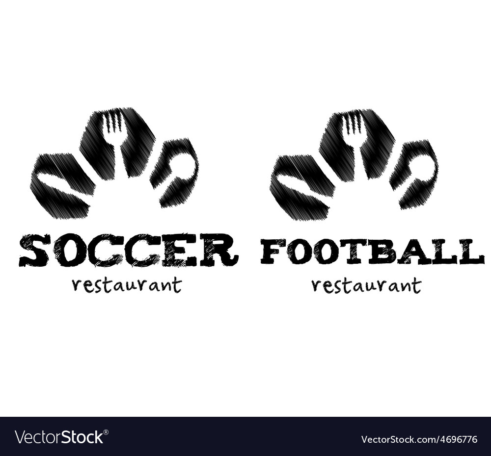 Soccer and football restaurant vector | Price: 1 Credit (USD $1)