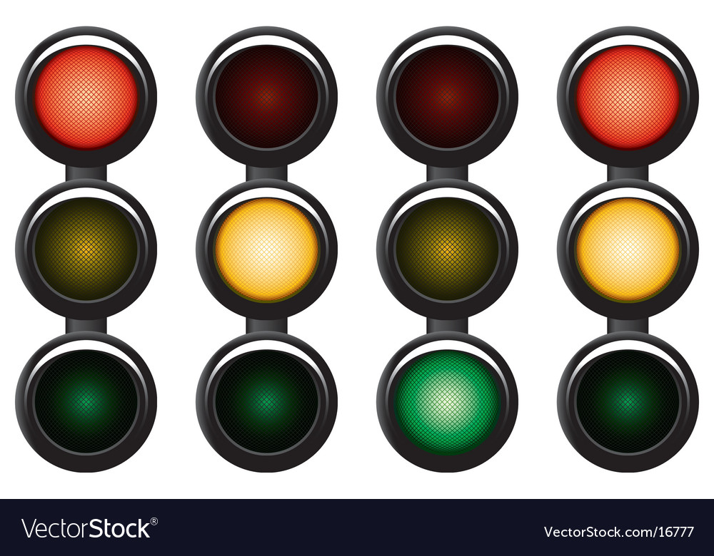 3-sections traffic-light vector | Price: 1 Credit (USD $1)