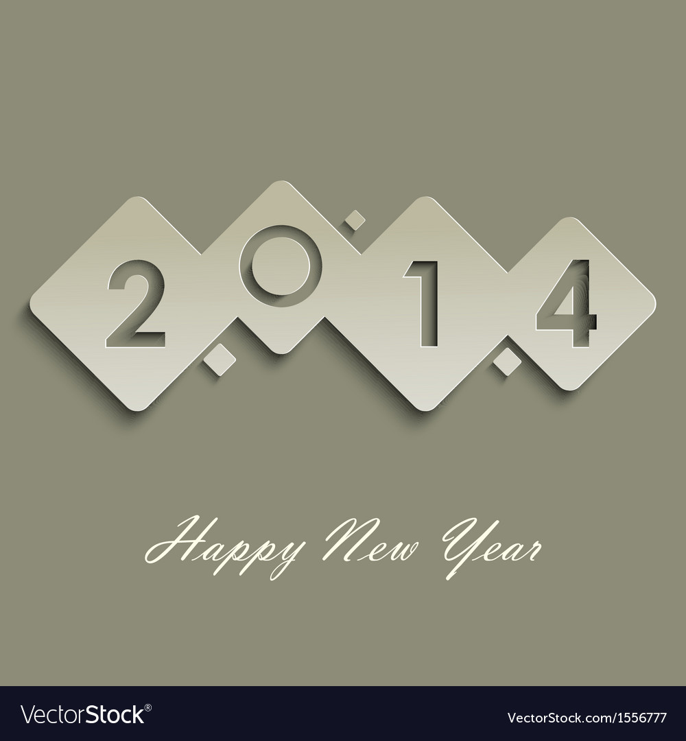 Abstract cube new years wishes vector | Price: 1 Credit (USD $1)