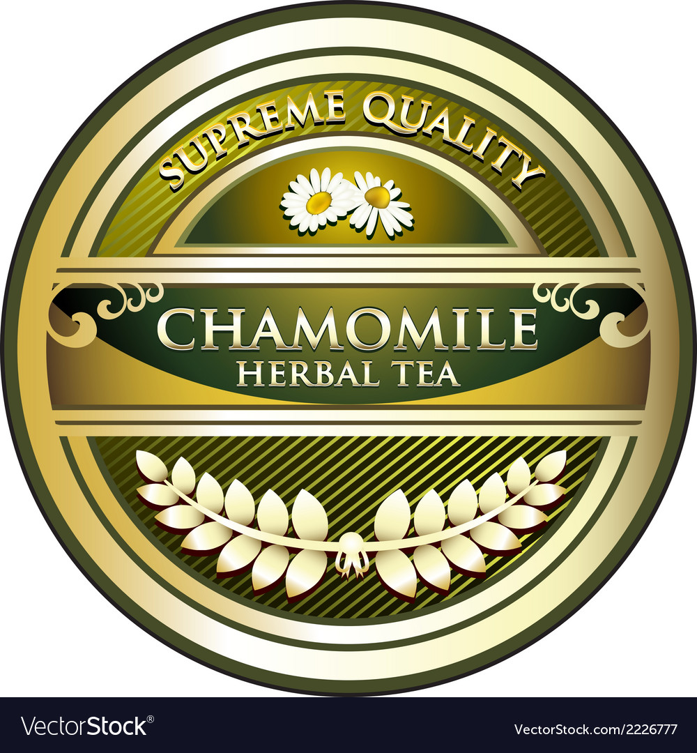 Chamomile herbal tea label vector | Price: 1 Credit (USD $1)