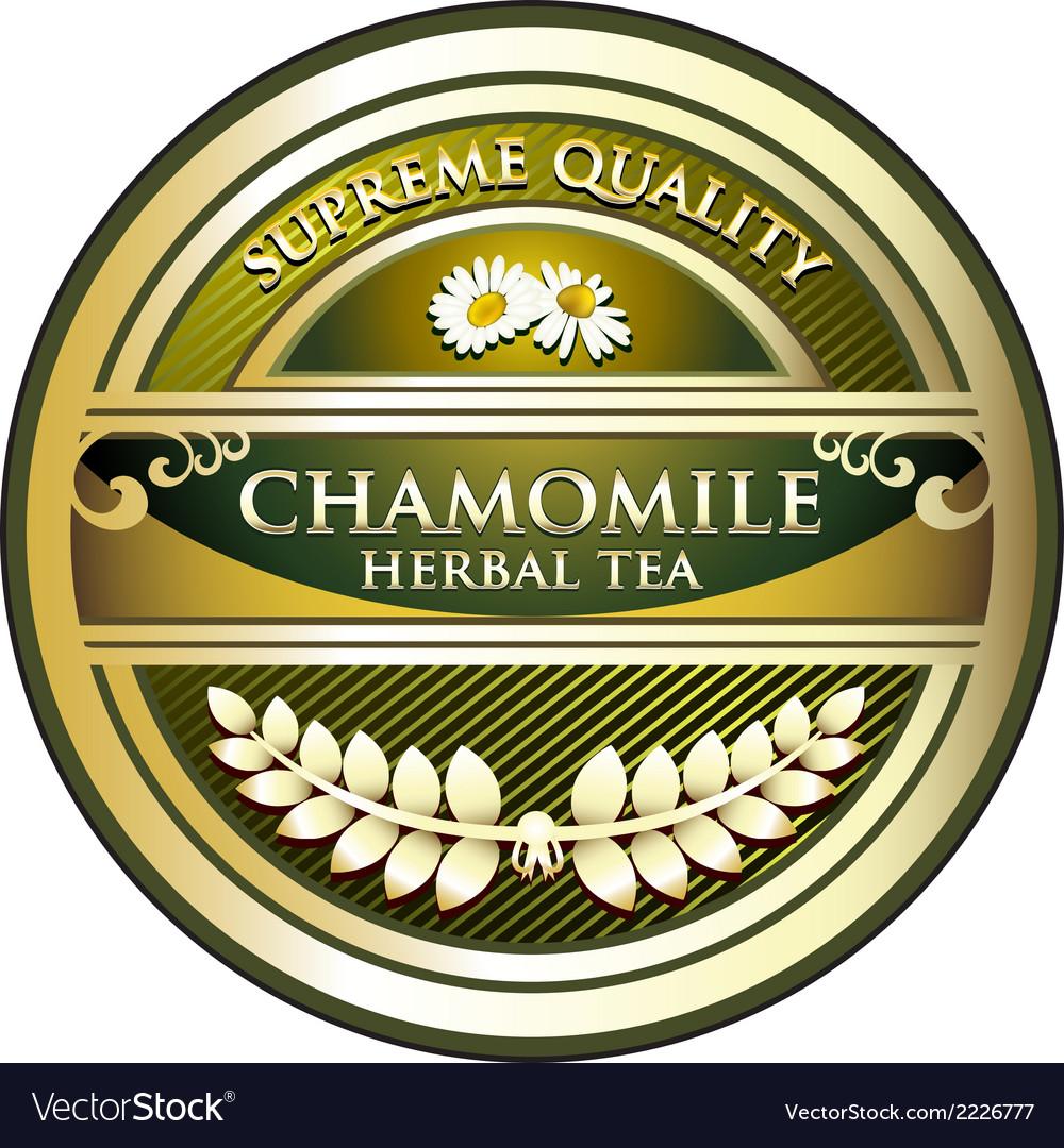 Chamomile herbal tea label vector   Price: 1 Credit (USD $1)