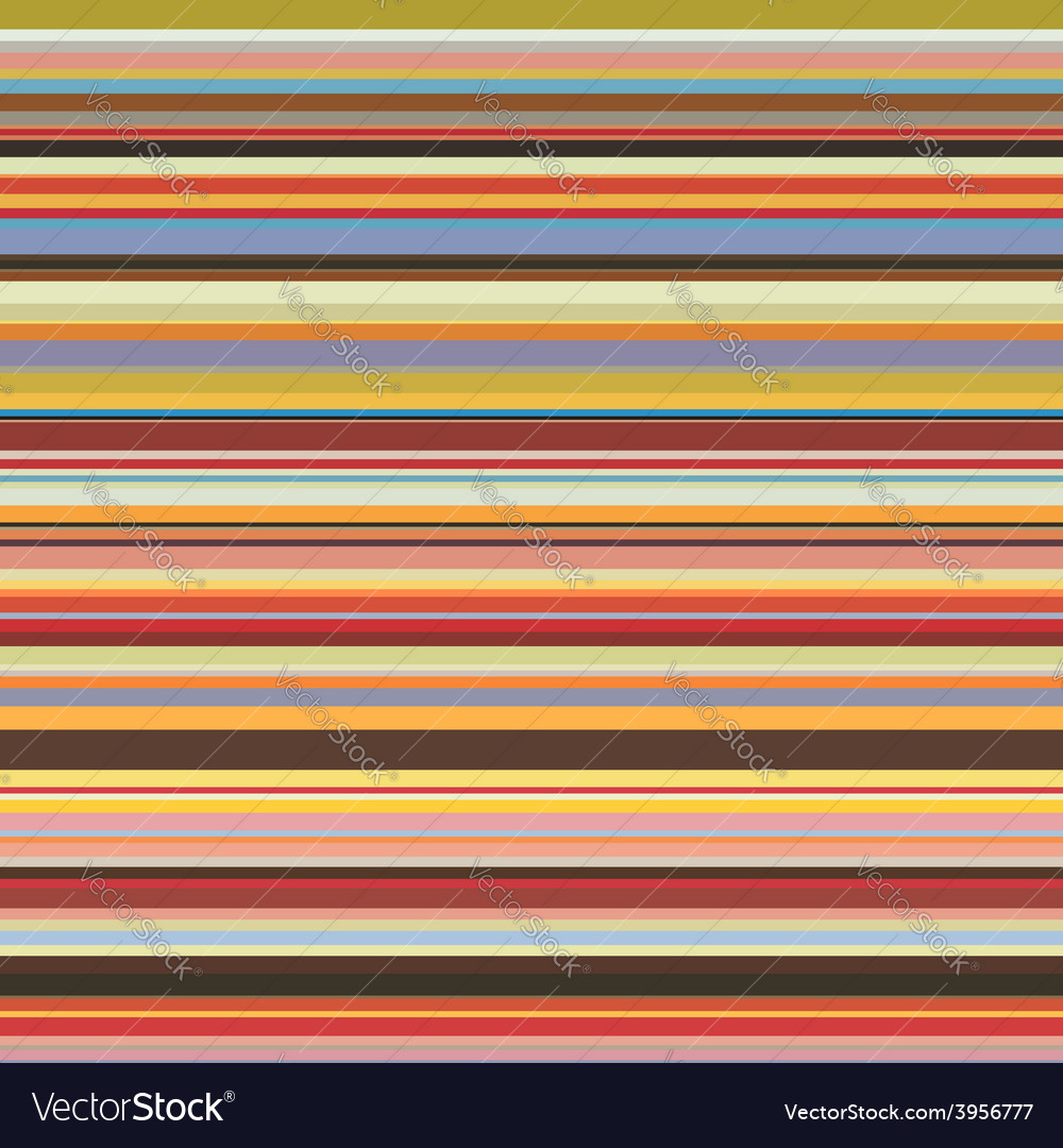 Colored horizontal stripes seamless pattern vector | Price: 1 Credit (USD $1)