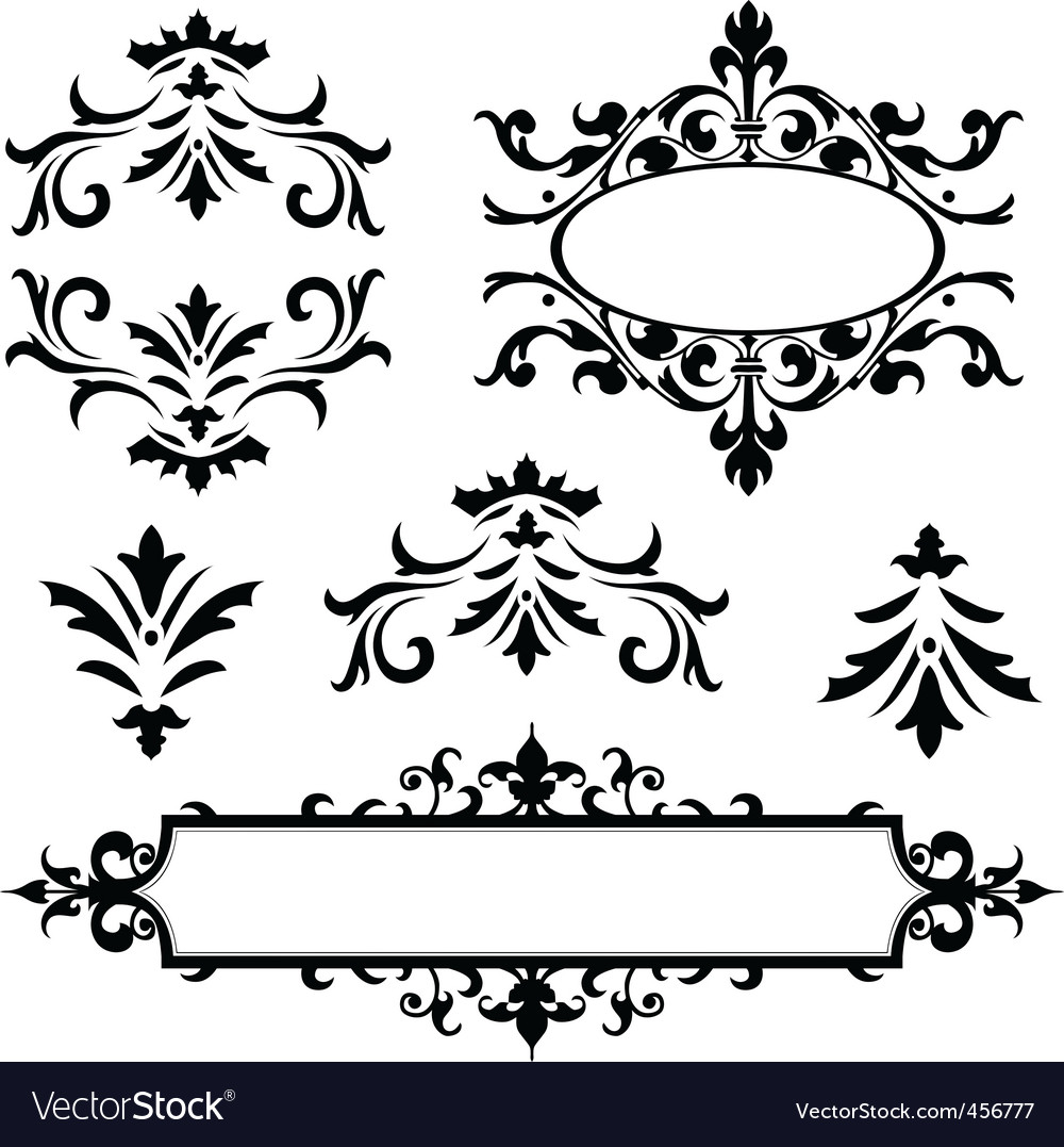 decorative frame ornaments vector | Price: 1 Credit (USD $1)