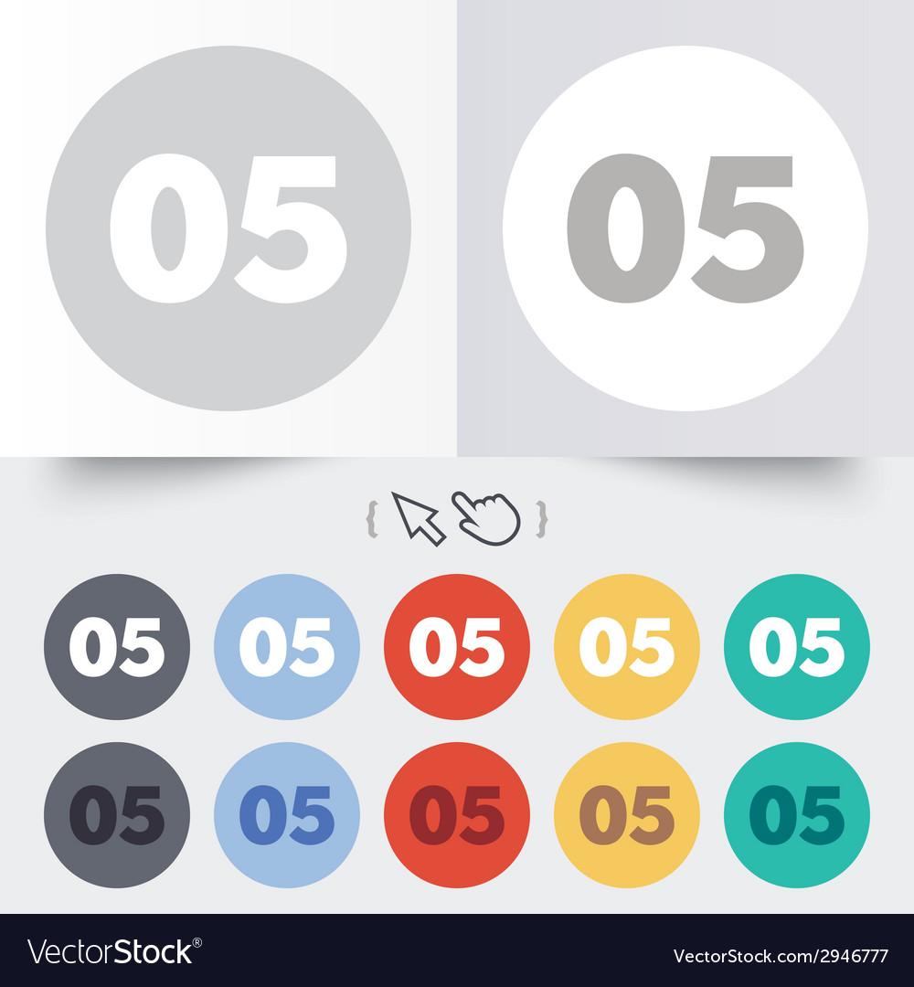 Fifth step sign loading process symbol vector | Price: 1 Credit (USD $1)