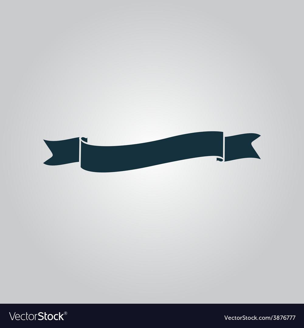 Flat ribbon icon vector | Price: 1 Credit (USD $1)