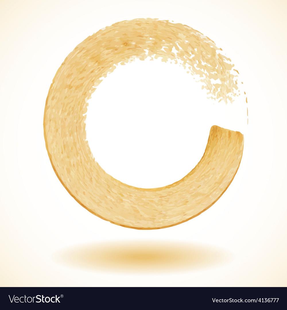 Gold paintbrush circle frame vector | Price: 1 Credit (USD $1)