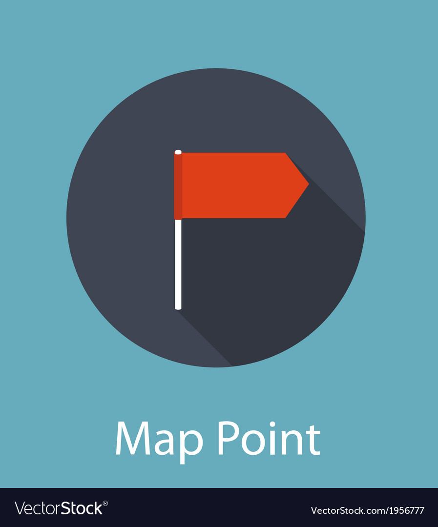 Map point flat icon concept vector | Price: 1 Credit (USD $1)