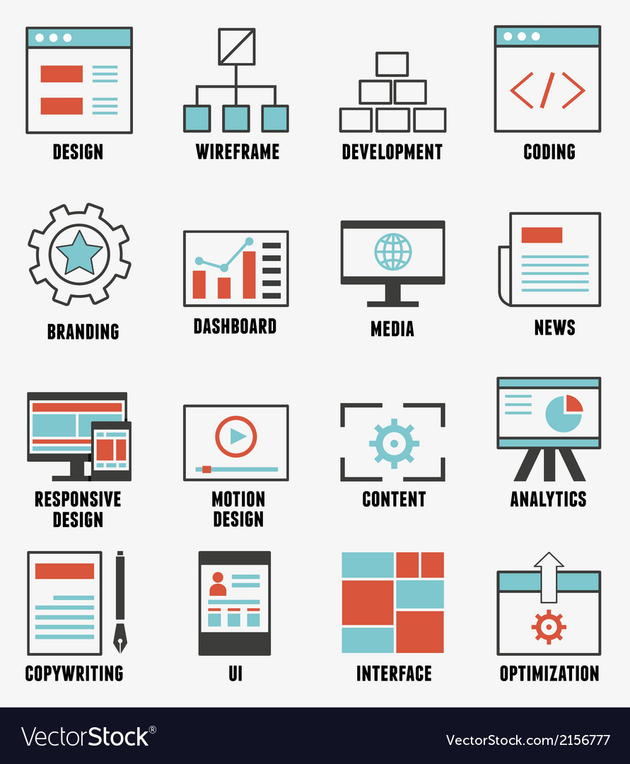 Set of e-commerce and internet service icons vector | Price: 1 Credit (USD $1)