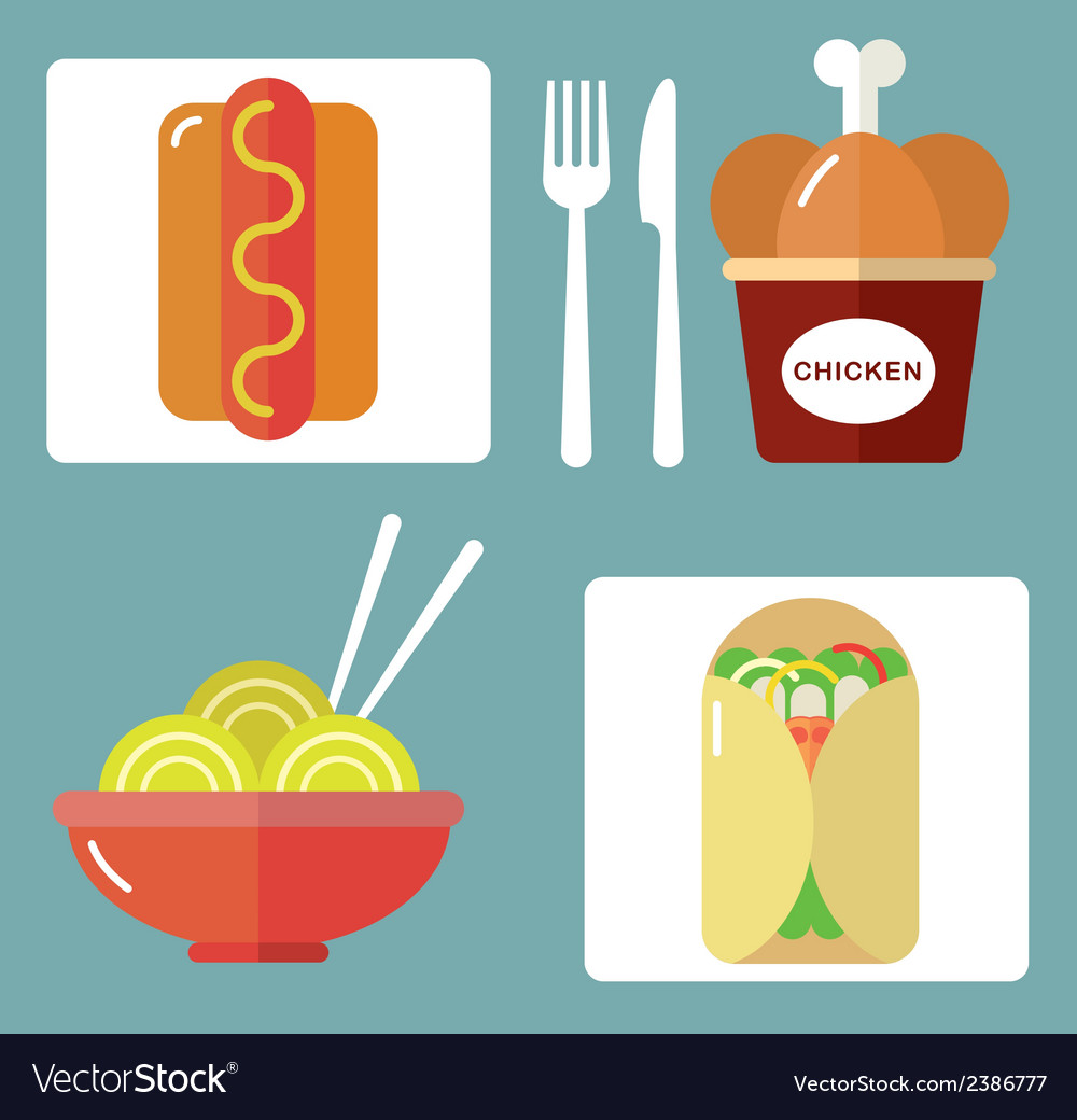 Takeaway set ii vector | Price: 1 Credit (USD $1)
