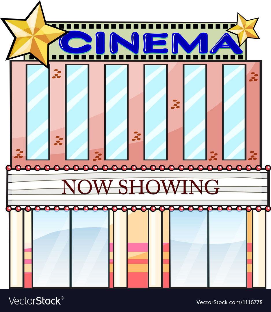 A cinema theater building vector | Price: 1 Credit (USD $1)