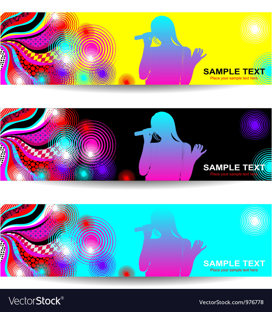 Advertising abstract music banner vector | Price: 1 Credit (USD $1)