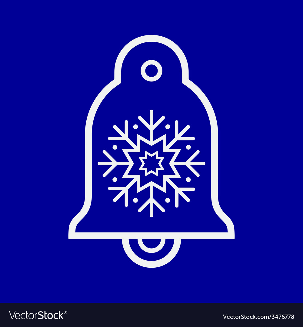 Bell ornament vector | Price: 1 Credit (USD $1)