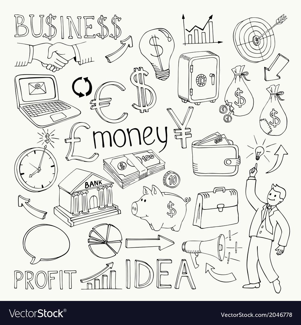 Business doodles hand doodle vector   Price: 1 Credit (USD $1)