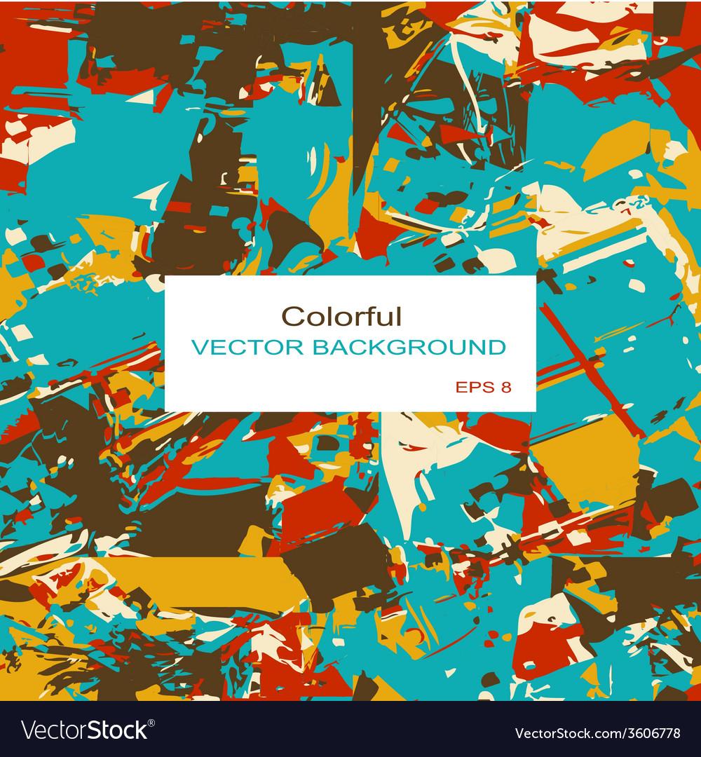 Decorative retro colored squares vector | Price: 1 Credit (USD $1)