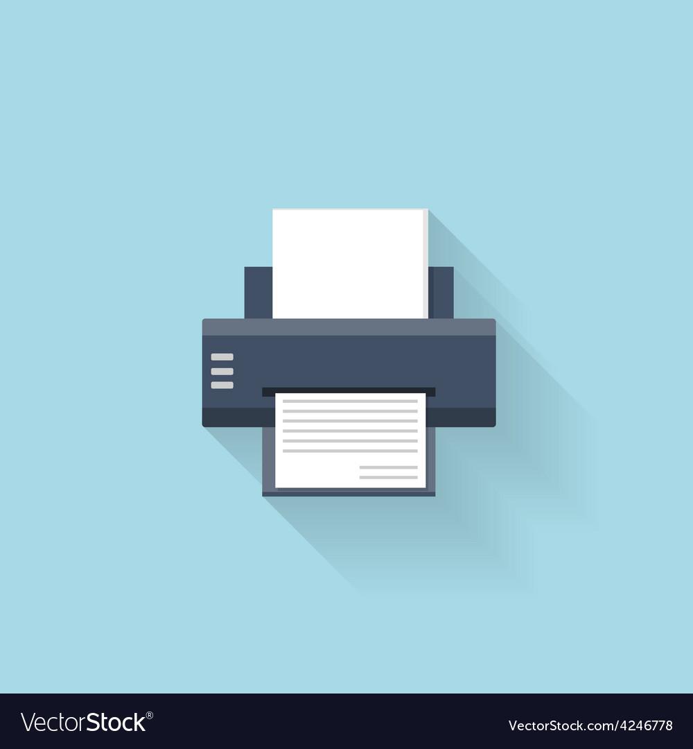 Flat printer web internet icon vector   Price: 1 Credit (USD $1)