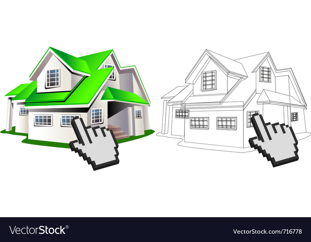 House and wireframe vector | Price: 3 Credit (USD $3)