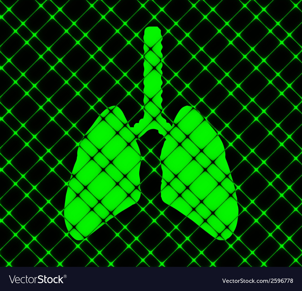 Human lung flat modern web button and space for vector | Price: 1 Credit (USD $1)