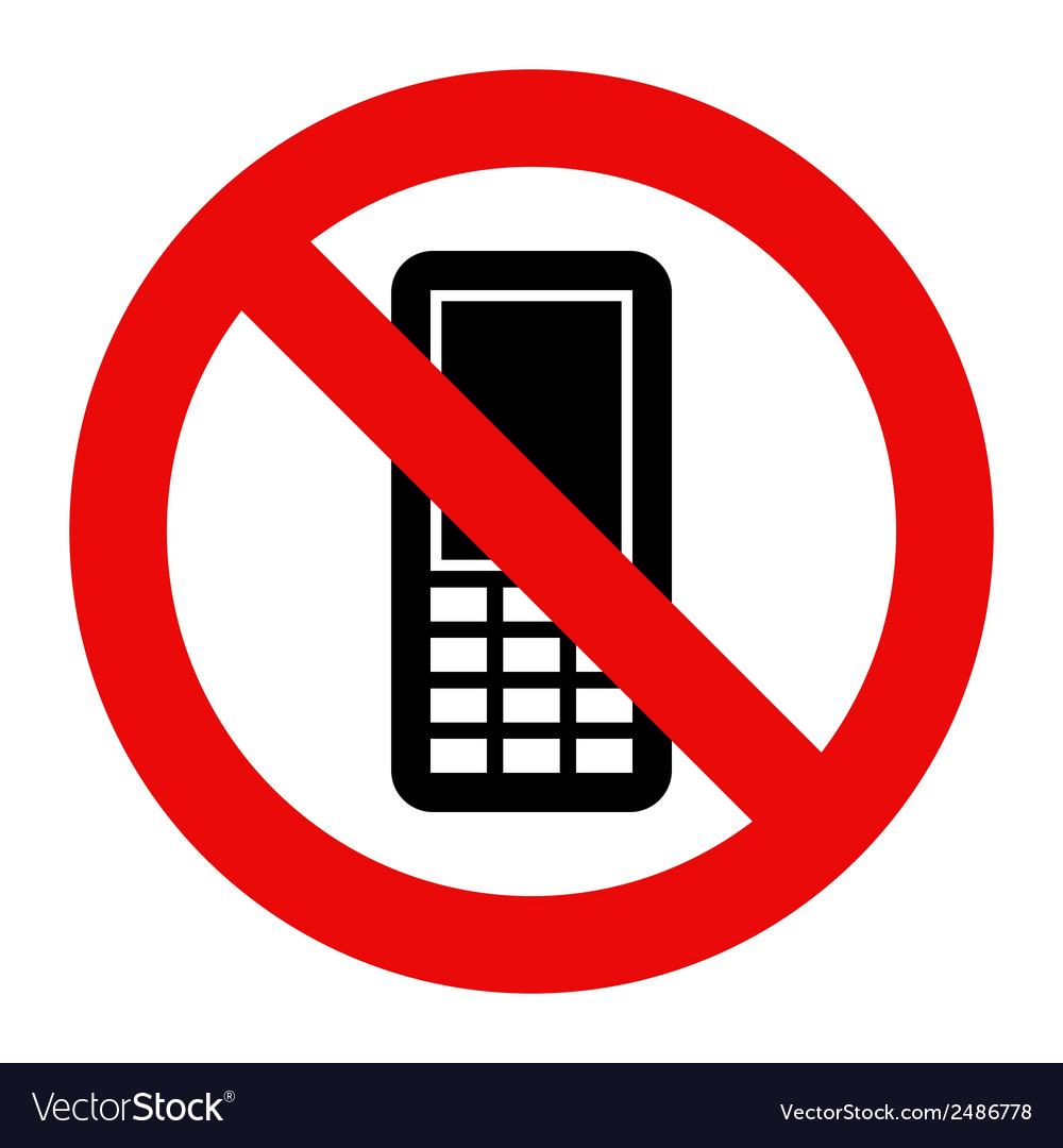 Mobile phone prohibited vector | Price: 1 Credit (USD $1)