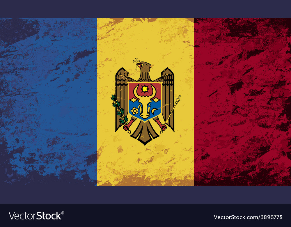 Moldovan flag grunge background vector | Price: 1 Credit (USD $1)