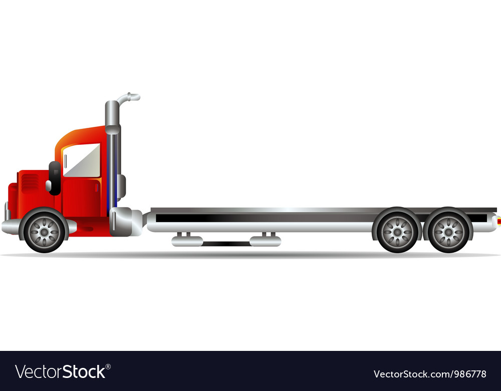 Red container car vector | Price: 3 Credit (USD $3)