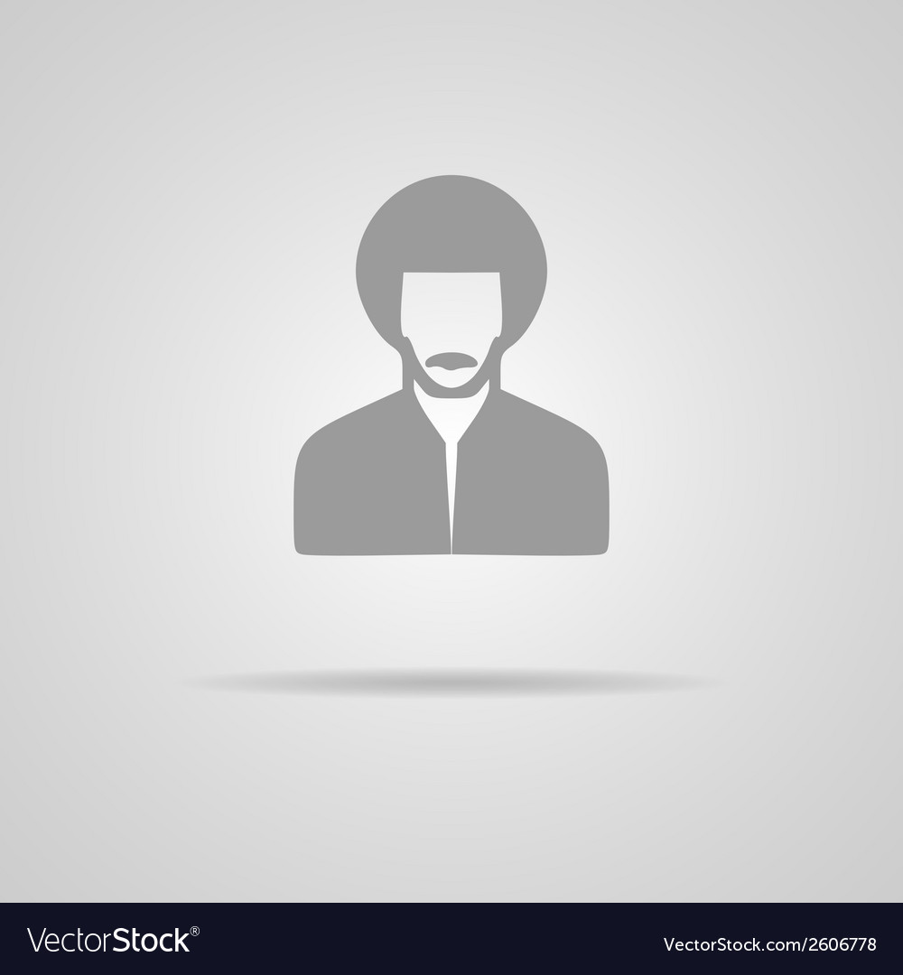Reggae man icon vector | Price: 1 Credit (USD $1)