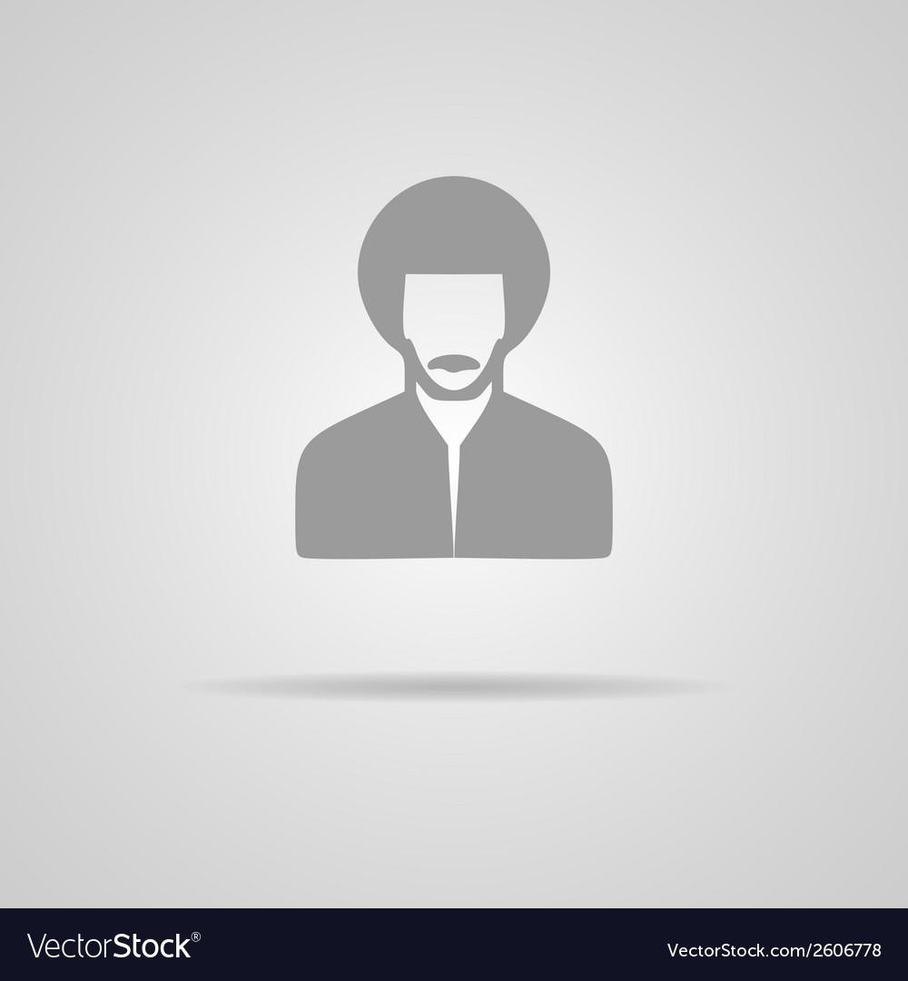 Reggae man icon vector | Price: 1 Credit (USD $1)